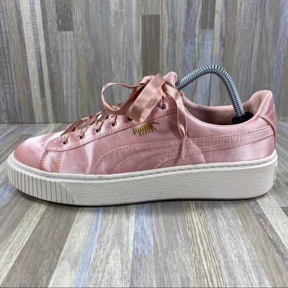 Puma Shoes   Puma Pink Satin   Poshmark